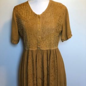 Dresses & Skirts - M.P.H. gold embroidered dress size M